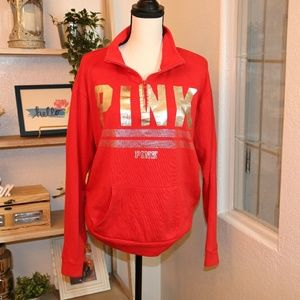 PINK red hoodie